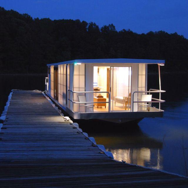 MetroShip Prefab Modern Houseboats | House Boats | Pinterest | House, Floating house and Houseboat living
