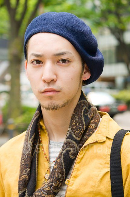 拓さん | HARE PRADA CA4LA H&M | 2012年 5月 第2週 | 表参道 | 東京 ... ベレー帽 / CA4LA