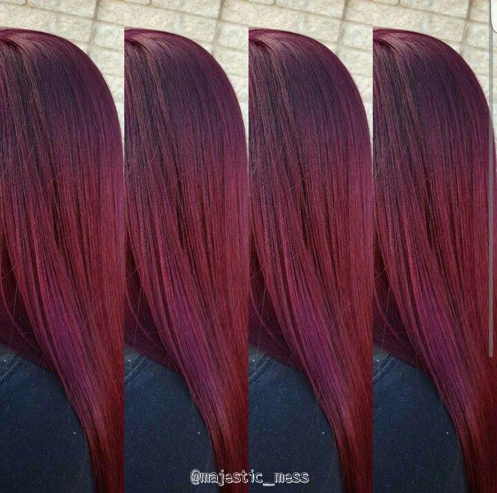 Burgundy Maroon Violet Hair Color. Goldwell 6vv 3vv By