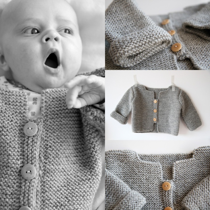 Le cardigan de Balthazar © - Taille 6 mois - Les Tricots de Granny - Cf tuto inside !
