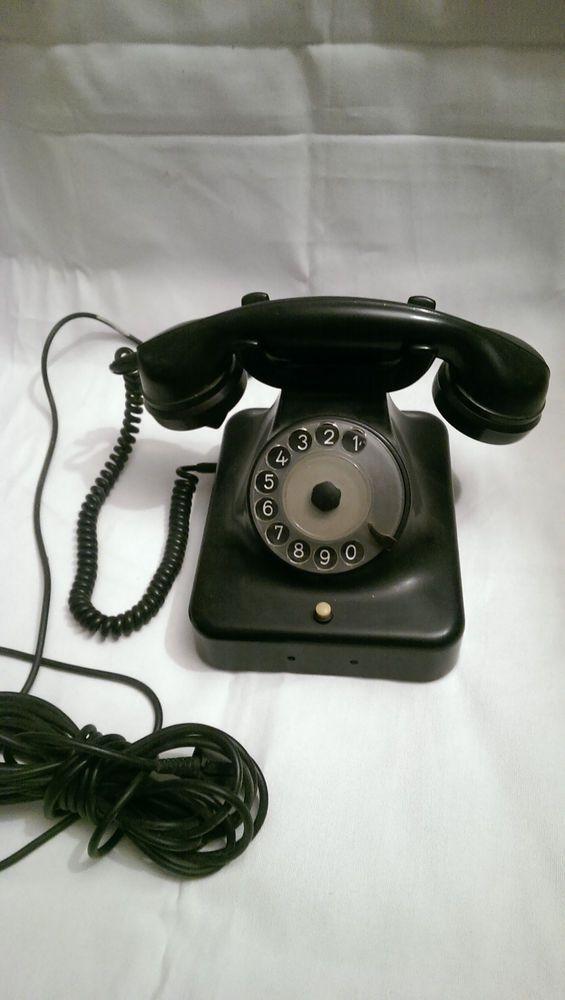 Altes Telefon Bakelit W 48 Siemens Telephone Altes Telefon