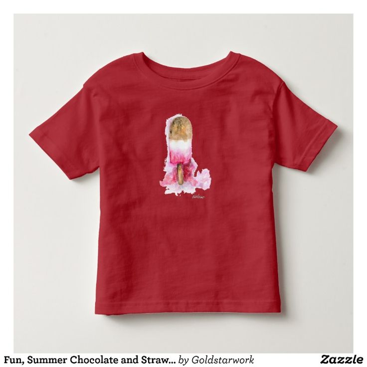Fun, Summer Chocolate and Strawberry Popsicle Toddler T-Shirt