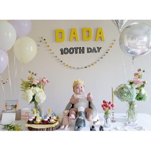 祝100日!おしゃれで可愛い赤ちゃんのお食い初めパーティ♪の5番目の画像