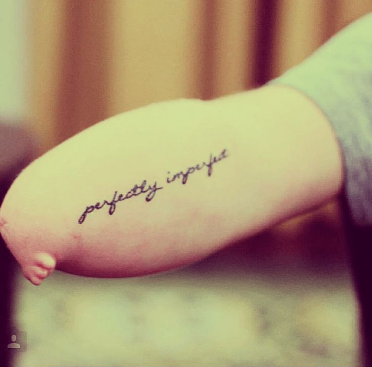 Perfectly Imperfect tattoo