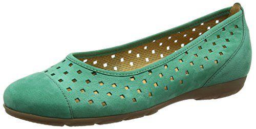 Gabor 44.169.19 Damen Ballerinas, Green (Palme Green Nubuck), 38.5 EU (5.5 UK) - http://on-line-kaufen.de/gabor/38-5-eu-5-5-uk-gabor-44-169-damen-ballerinas-8