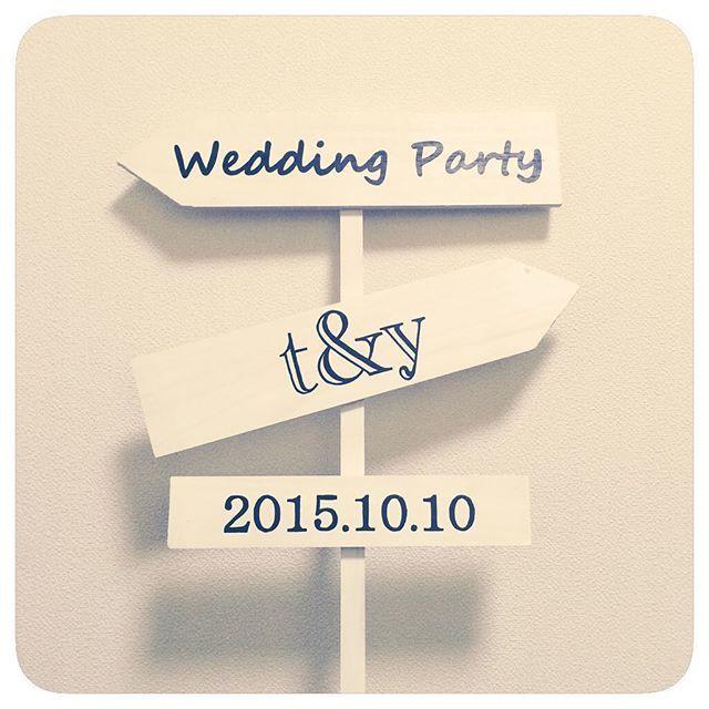 weddingsign*° 旦那さんが作ってくれたものに私は字を書いただけ(^ω^)はじめてアイテム作り手伝ってくれたo(^▽^)o t&yはウェルカムボードと一緒のフォントで...*なんだかこれが私達のロゴマークになりそう^ ^このフォントすき♡ Photo Boothに置こう♡ まだまだやることいっぱい(ノ_<)てか、やりたいこといっぱいヽ(;▽;)ノ妥協して後悔しないように頑張ろう(T ^ T)!! インスタに載せてやる気UP!! #weddingsign #ウェルカムスペース #Photo Booth #ウェディング #プレ花嫁 #ロゴマーク #ウェディングサイン #フォトブース