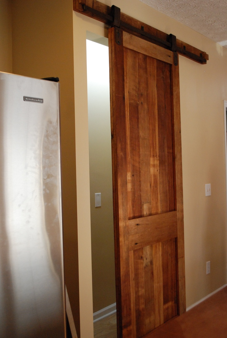 Sliding Pantry Barn Door Inspired Kitchen Pinterest
