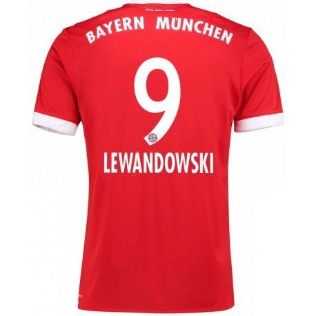 Maillot Bayern LEWANDOWSKI 2017/2018 Domicile Officiel. Flocages Personnalisés Disponibles.