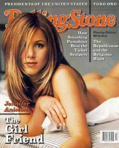 """Una indimetnicabile copertina di Rolling Stone con una sexy Jennifer Aniston all'apice del successo della serie """"Friends""""."""