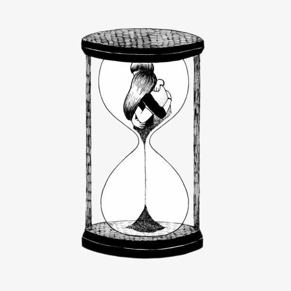 المبدع الساعة الرملية Time Art Drawings Art Inspiration