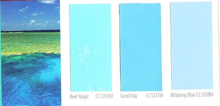 Pool color 816 395 decorating pinterest for Colors that go with ocean blue