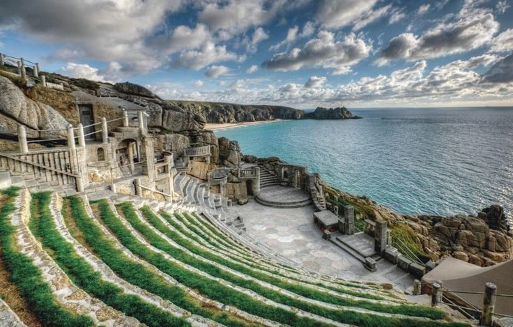 88 Cornwall's Minack Theatre was the brainchild of a determined amateur, Rowena Cade,who constructed it at the enf of her garden in Porthcurno to Stage productions put on by local players.