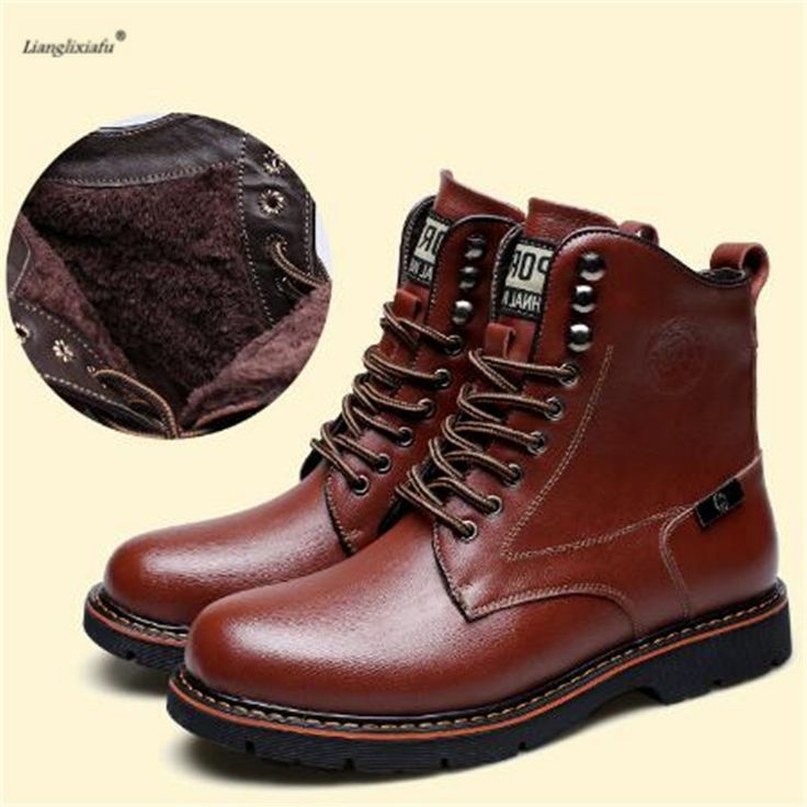 ==> [Free Shipping] Buy Best 2017 winter high quality Casual Fashion warm snow men boot Mountaineering Hunting men shoes Outdoor Jungle Trekking Zapatos Online with LOWEST Price | 32799536374
