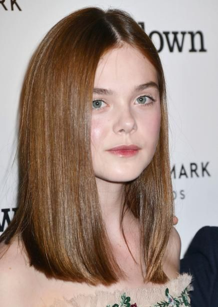 Keep this style looking modern by leaving the front slightly longer than the back, like Elle Fanning's. #Haircuts #Hair