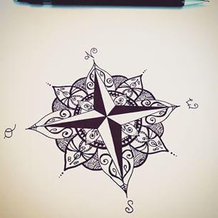 17 meilleures id es propos de mandala compass tattoo sur for Signification du noir et blanc