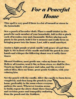 Magick Spells: For a Peaceful Home #Spell.