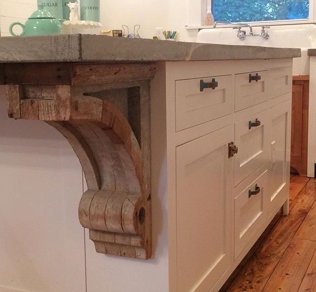 19 best images about rustic home inspiration on pinterest for Modern corbels for granite countertops