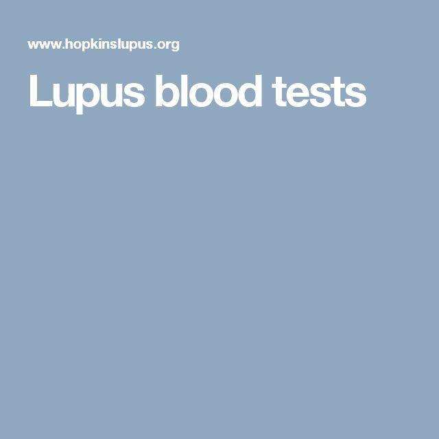 Lupus blood tests