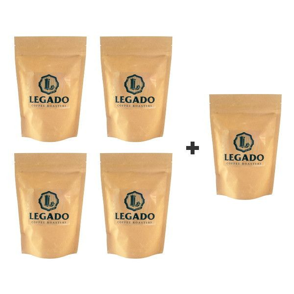 Try four of Legado's delicious coffees with this coffee bean bundle - for a limited time receive a 5th single origin coffee as a free gift with your order!