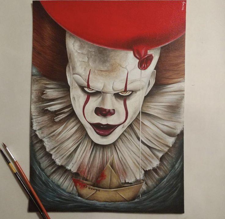 Wallpaper It Clown Bill Skarsgard Horror 2017 Hd: Pin By Bailey Becker On Horror