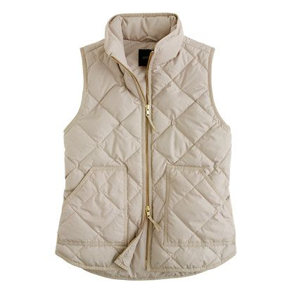 Excursion quilted vestJcrew Quilted Vest, Fall Cream Vest, Jcrew Excursion Vest, Fall Quilted Vest, Excursion Quilted Vest, Cream J Crew Vest, Womens Vest, Fall Outerwear, Jcrew Vest Cream