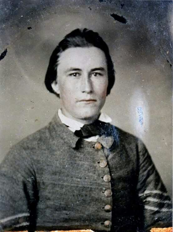 """Sergeant Joseph Hinton Mills Co. H """"the North Carolina Tigers"""" 47th NC Infantry. From Wake County, NC. thanks to Greg Mast."""