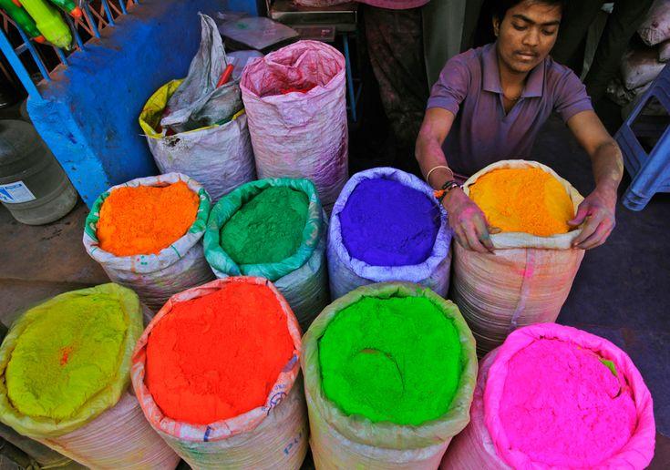 Holi colors. India.