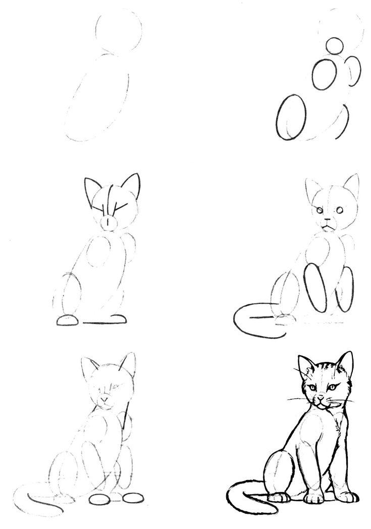 Рисунки для срисовки прикольные легкие поэтапно, днем рождения