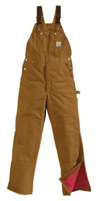 Carhartt Insulated Bib Overalls - Brown - 38x30