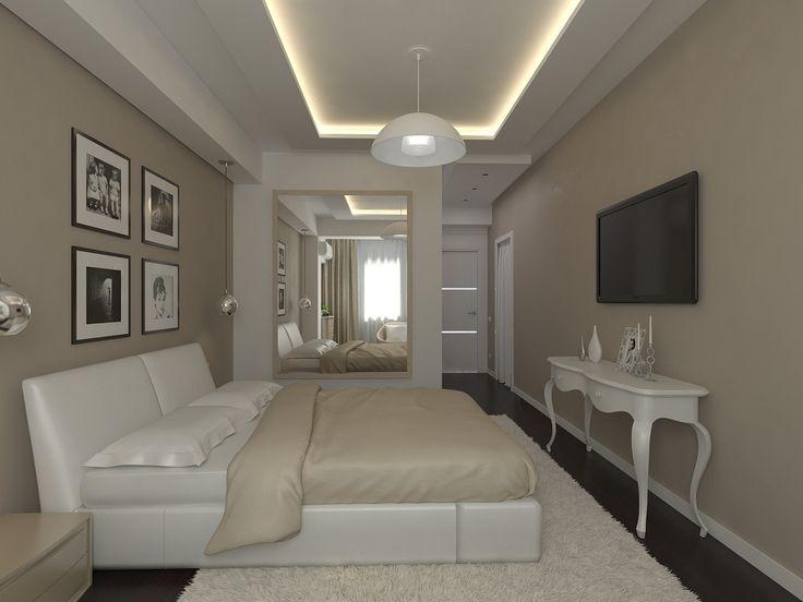 Идея с большим зеркалом в спальне. можно подумать насчет зеркала напротив кровати