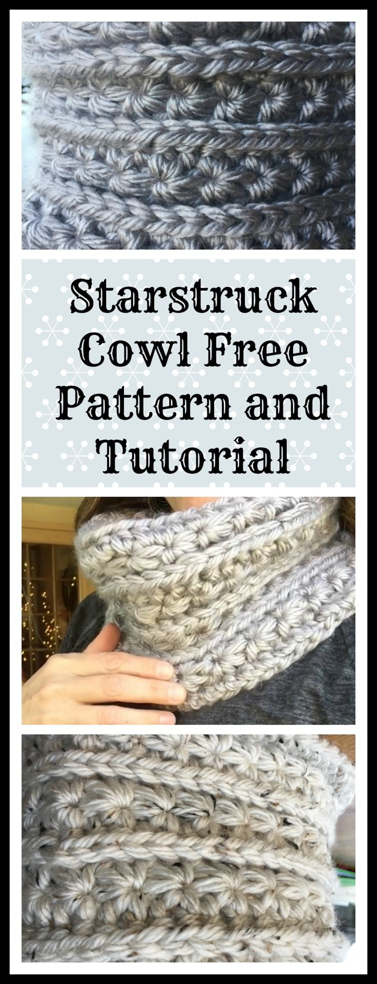Free Pattern for the gorgeous Starstruck Cowl.  So cozy!