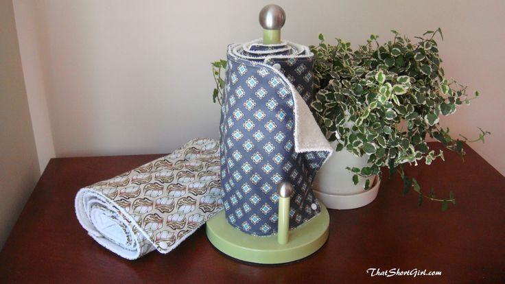 That Short Girl's Blog: Reusable Paper Towel Tutorial. Tutoriel pour essuie-tout réutilisable!