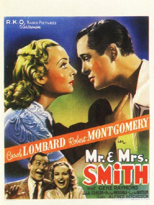 Carole Lombard and Robert Montgomery - Mr. & Mrs. Smith (1941)