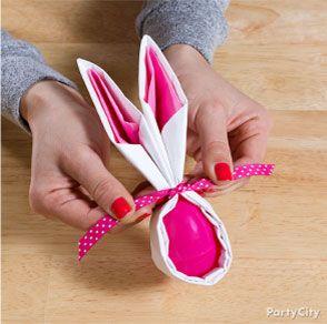 Bunny Napkin How-To - Party City