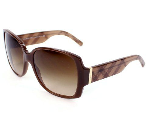Burberry BE4105M Sunglasses - 3237/13 Brown (Brown Gradient Lens) - 58mm by Burberry. Save 4 Off!. $129.58. Burberry is a British luxury fashion house, manufacturing clothing and other apparel.Its distinctive check pattern has become one of its most widely copied trademarks. Burberry is an internationally recognized luxury brand with a worldwide distribution since 1856.A luxury brand known for its quality, style,design innovation,balancing classic sensibility with modernity...