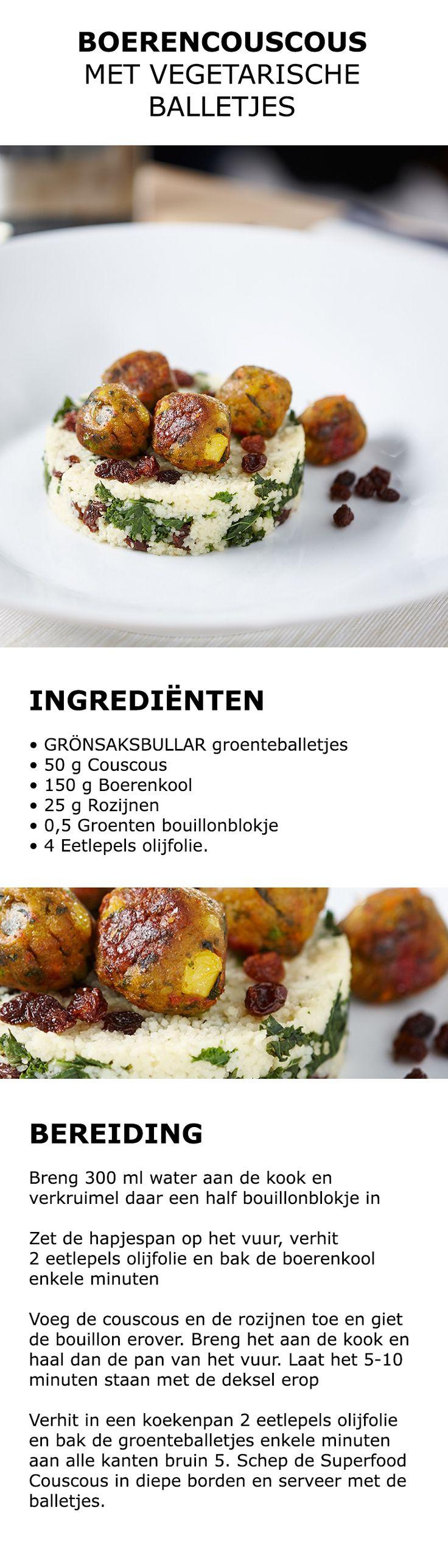Inspiratie voor in de keuken - Boerencouscous met vegetarische balletjes | #IKEA #IKEAnl #koken #gerecht #recept #couscous #boerenkool #vega