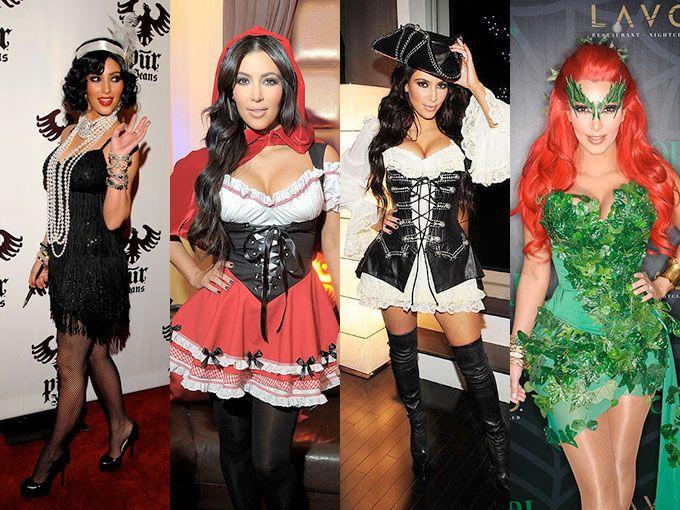 """Los disfraces de Kim Kardashian. Kim Kardashian es fan de ponerse disfraces """"sexys"""" en Halloween. Ha sido una enfermera sexy, Blanca Nieves sexy, pirata sexy… Estos son algunos de sus looks."""