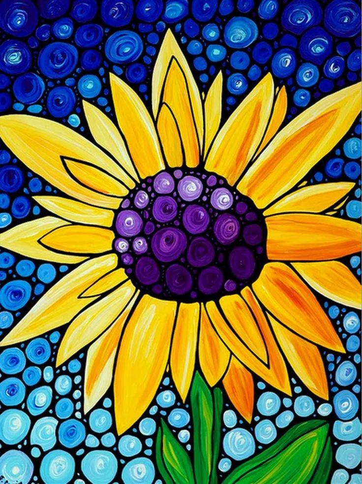 cuadros-faciles-de-flores-pintados-al-oleo   Dibujo y ...