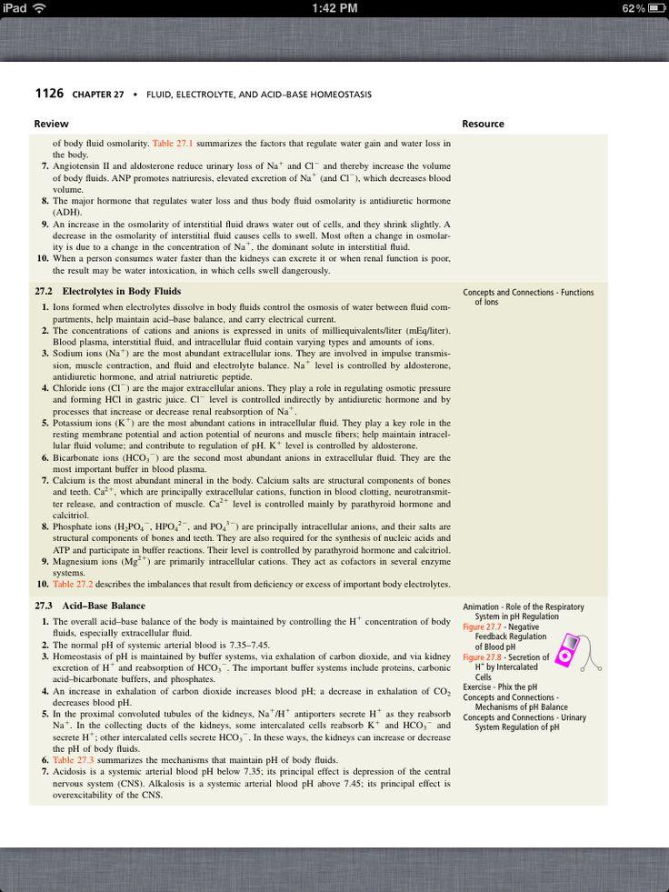 Mejores 20 imágenes de Chapter 27, Fluid, Electrolyte, and Acid–Base ...