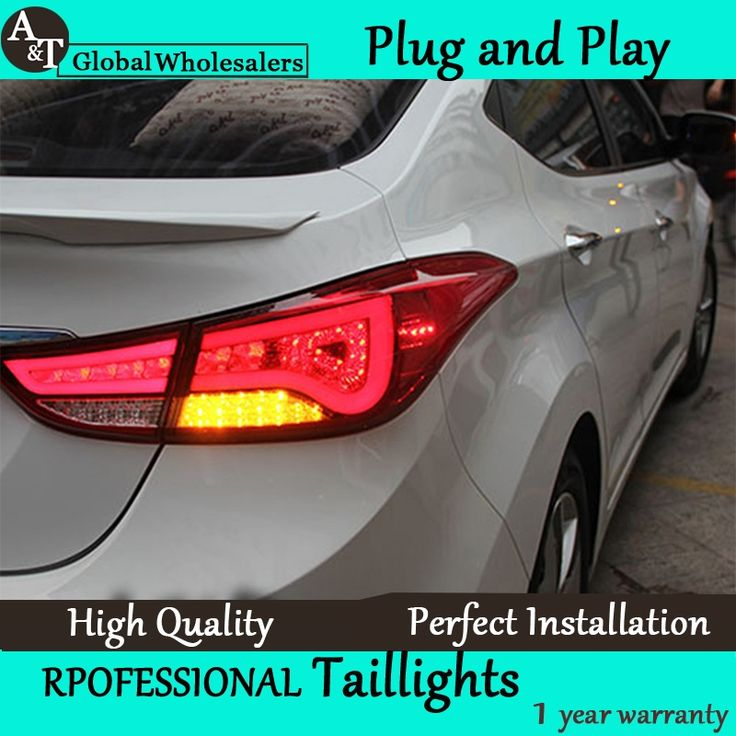 281.60$  Watch now - http://alix0u.worldwells.pw/go.php?t=32659907377 - A&T Car Styling for Hyundai Elantra Taillights BMW Design New Elantra MD Tail Light Rear Lamp DRL+Brake+Park+Signal