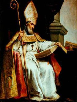 St. Isidore of Seville, Roman Catholic Priest and Doctor of The Church. Isidore was the first Christian writer to try to compile a summa of universal knowledge, in his most important work, the Etymologiae his learning caught fire in Spanish minds and held back the Dark Ages of barbarism from Spain. Feastday April 4