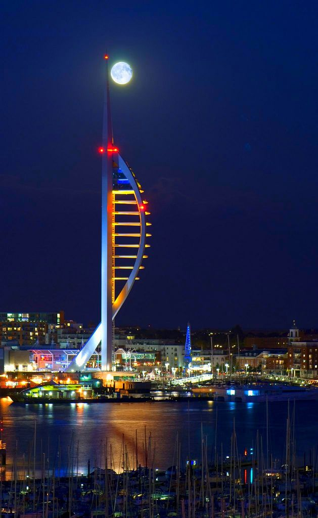 Spinnaker Tower, Portsmouth, in fact my profile pic is me lying on the glass floor at the top