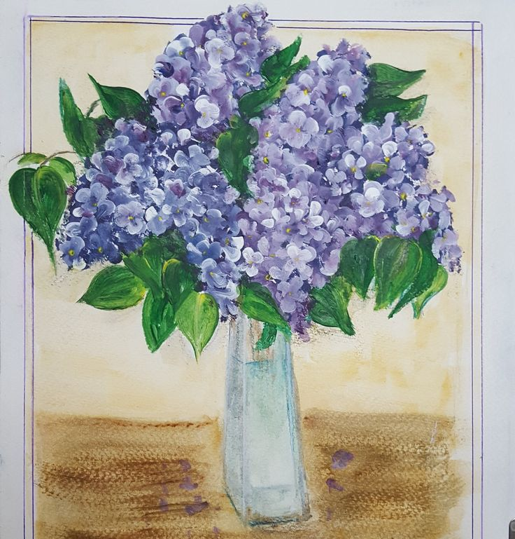 anyák napjára #acrilpainting #lilac #motherday