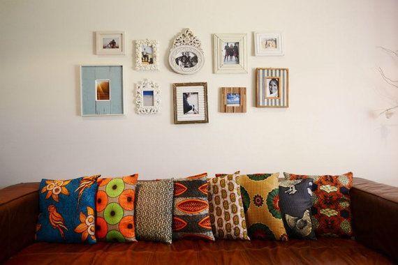 Blue Earth Genuine African Wax Fabric & Design by LilBlueBirdy