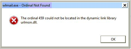 """Fixing error message """"The ordinal 459 could not be located in the dynamic link library urlmon.dll"""" - MajorGeeks"""