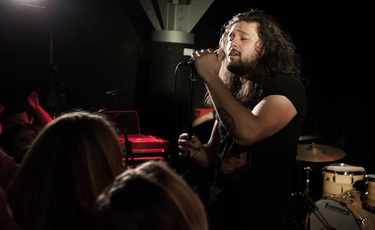 Rocking The Cambridge: Gang of Youths' lead singer Dave Le'aupepe. Picture: Guy Eppel