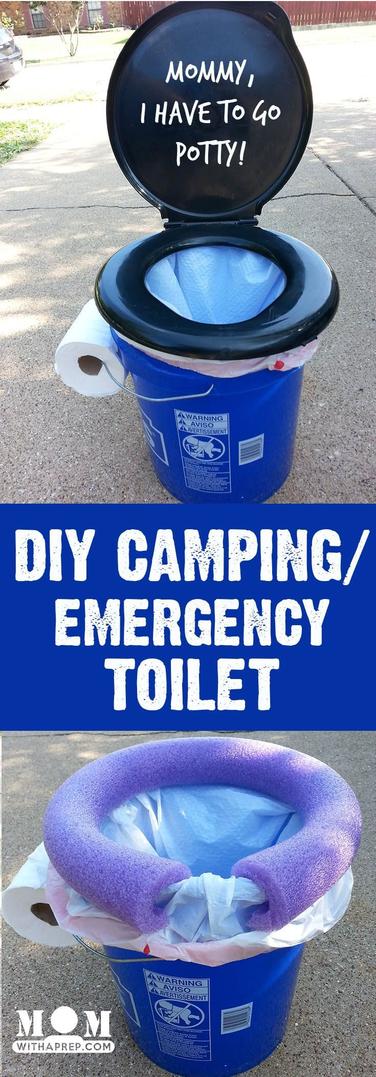 An easy, DIY, camping / emergency preparedness toilet that's also good for those long-distance vacation road trips!  via @momwithaprep