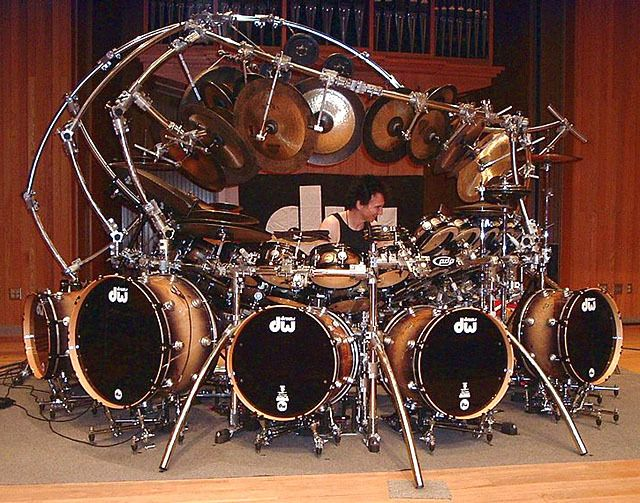 Holy crap! Terry Bozzios drum set