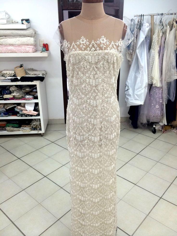 Production #Pattern #gown process. #FrancescaMiranda #atelier