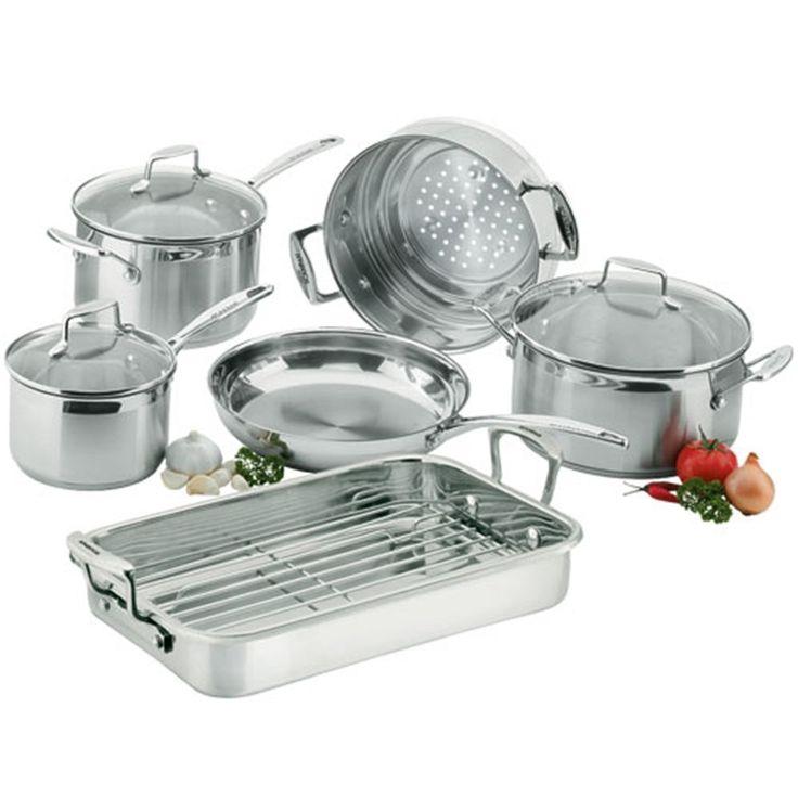 SCANPAN Impact Stainless Steel 6 Piece Cookware Wedding Housewarming Gift